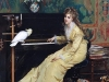 Gustave L?onard de Jonghe - Woman at the piano with a Cockatoo