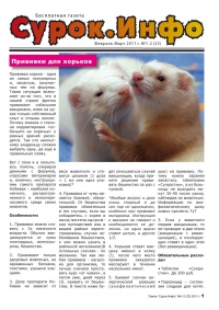 Газета СУРОК.ИНФО №1-2 (23), 2011 г., стр. 1