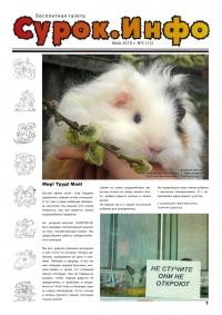 Газета СУРОК.ИНФО №5 (15), 2010 г., стр. 1