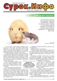 Газета СУРОК.ИНФО №5 (25), 2011 г., стр. 1