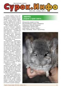 Газета СУРОК.ИНФО №6 (26), 2011 г., стр. 1