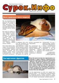 Газета СУРОК.ИНФО №7 (17), 2010 г., стр. 1