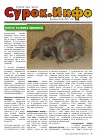 Газета СУРОК.ИНФО №12 (21), 2010 г., стр. 1